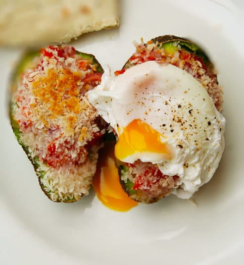 Stuffed Avocado Poached Egg