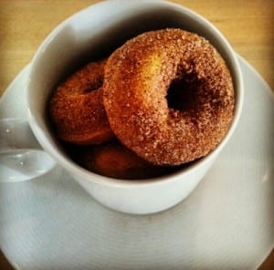 mini pumpkin donuts are a perfect Fall-day treat