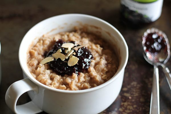 Baked Peanut Butter and Jelly Oatmeal