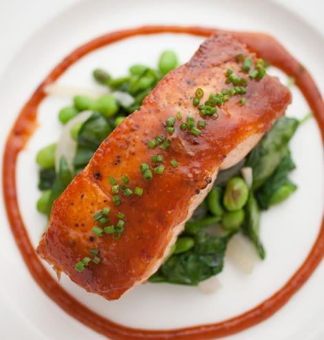 Salmon with Miso Glaze Photo: Michael McNamara