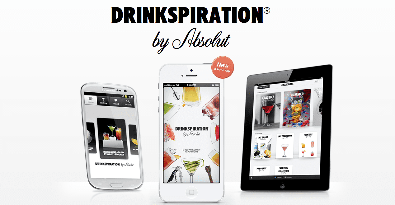 Absolut Drinkspiration App