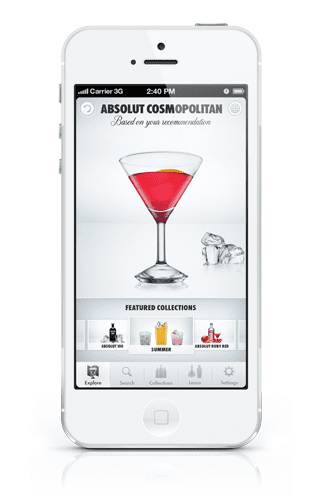 Cocktail app absolut drinkspiration honest cooking for Cocktail app and scales