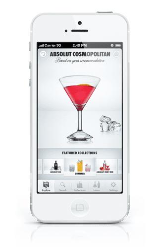 Cocktail app absolut drinkspiration honest cooking for App cocktail