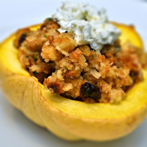 ... Thanksgiving Dish – Stuffed Acorn Squash – Honest Cooking