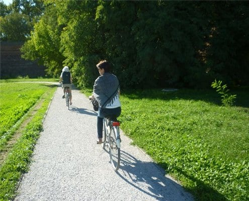 biking along Ferrara walls italiaoutdoors food and wine