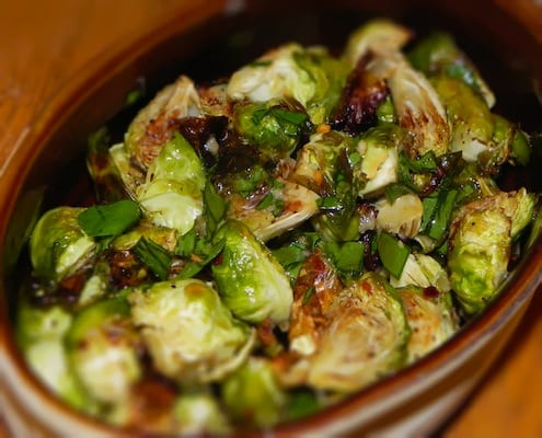Roasted Fish Sauce Brussels Sprouts