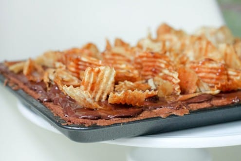 Cookie Crust, Chocolate, Pecan and Potato Chips Bars – Honest ...