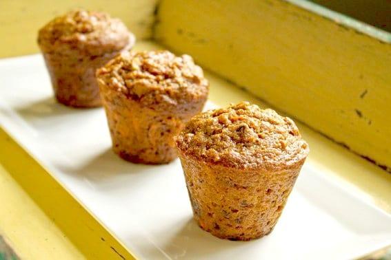 Healthy Carrot Pumpkin Spelt Muffins Recipe