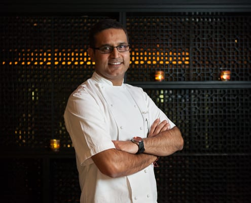 Atul Kochhar at his restaurant Benares