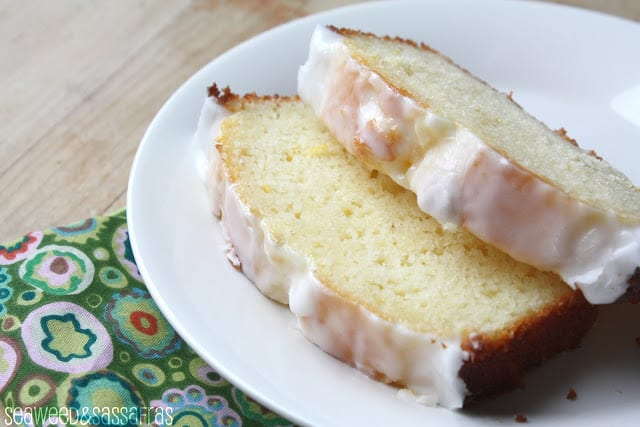 Iced Meyer Lemon Yogurt Cake