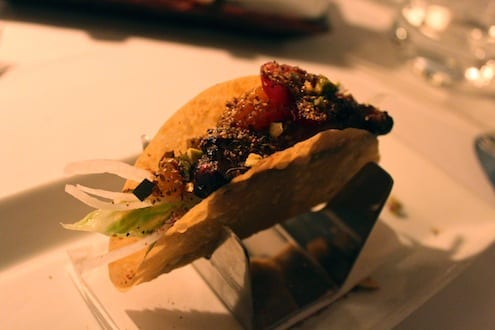Creative Foie Gras Taco