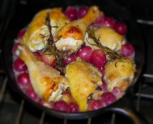 Roast Chicken and Grape Skillet