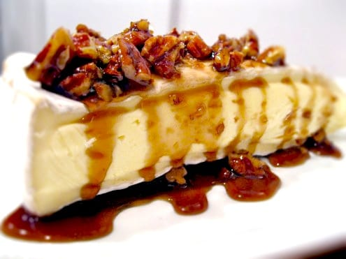 Rum, Maple and Pecan Topped Brie