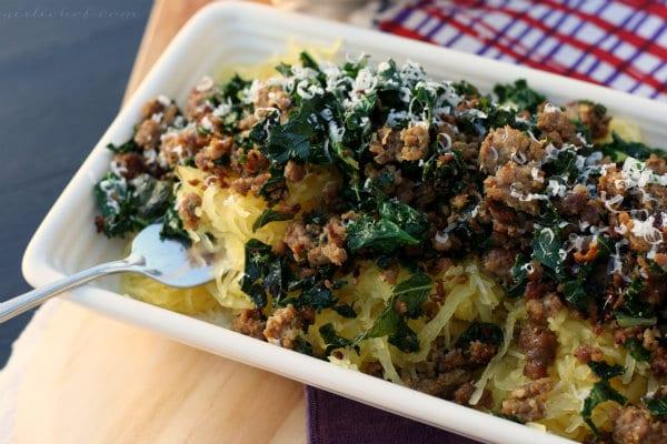 Spaghetti Squash Gratin Recipe
