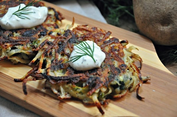 Spanolatkes - Greek Twist Latkes Recipe