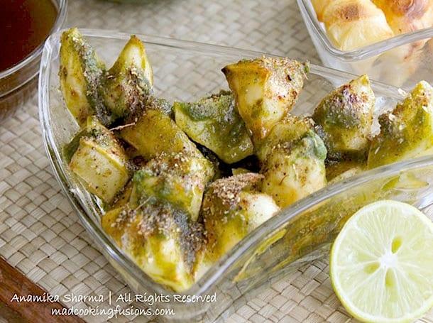 Baked Potatoes Aloo Chaat Recipe