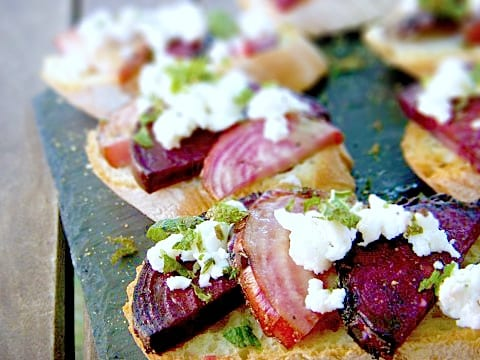 Beet Feta Bruschetta Recipe