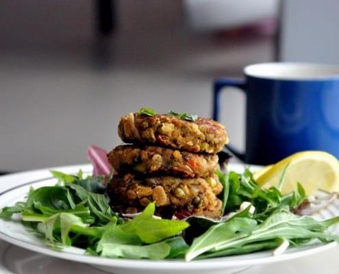 Eggplant & Lentil Fritters