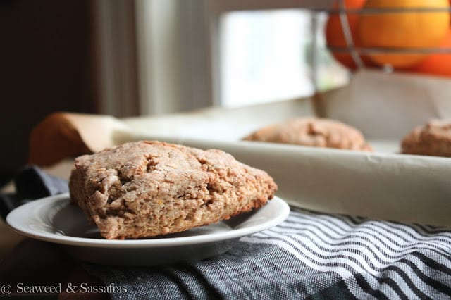 Ginger Lemon Whole Wheat Scones Recipe