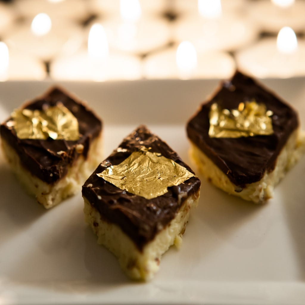Golden Chocolate Almond Burfi Recipe