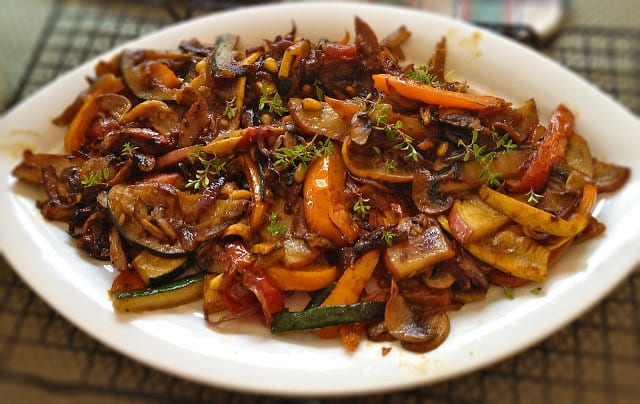 Indo - Chinese Vegetable Stir Fry Recipe