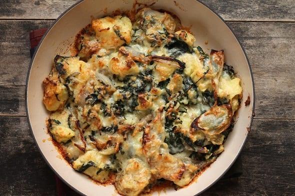 Mashed Potato Cheddar Gratin Recipe