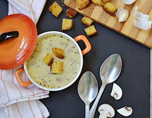 Mushroom Garlic Soup Recipe
