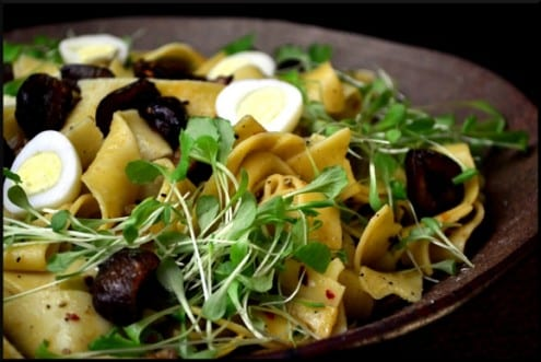 Pappardelle Recipe Candied Chestnuts and Quail Eggs