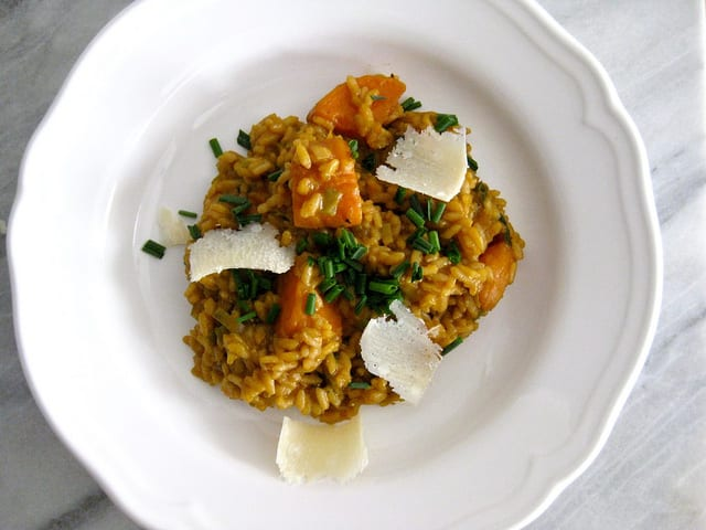 Roasted Sweet Potato Pecorino Risotto Recipe