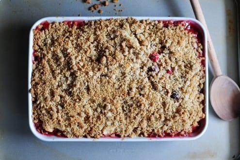Rosemary Apple Cranberry Crisp Recipe