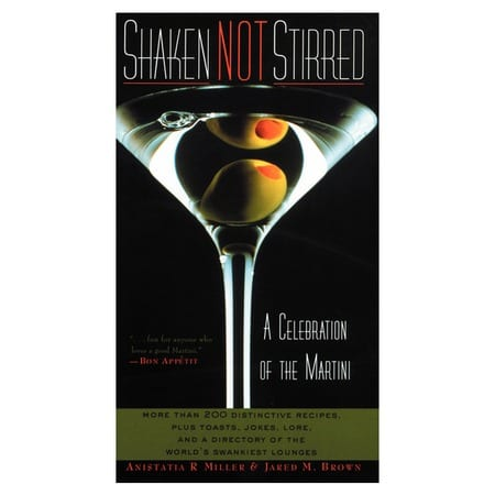 Shaken Not Stirred Celebration Martini Book