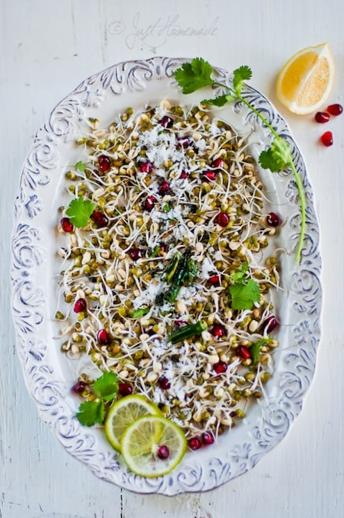 Sprouted Mung and Pomegranate Salad Recipe