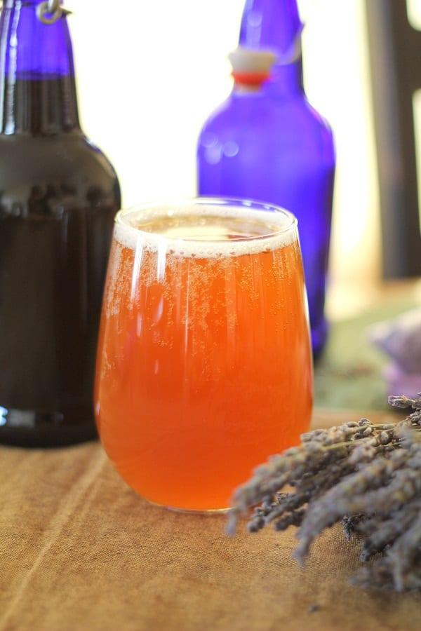 Homemade Lavender Kombucha Drink Recipe