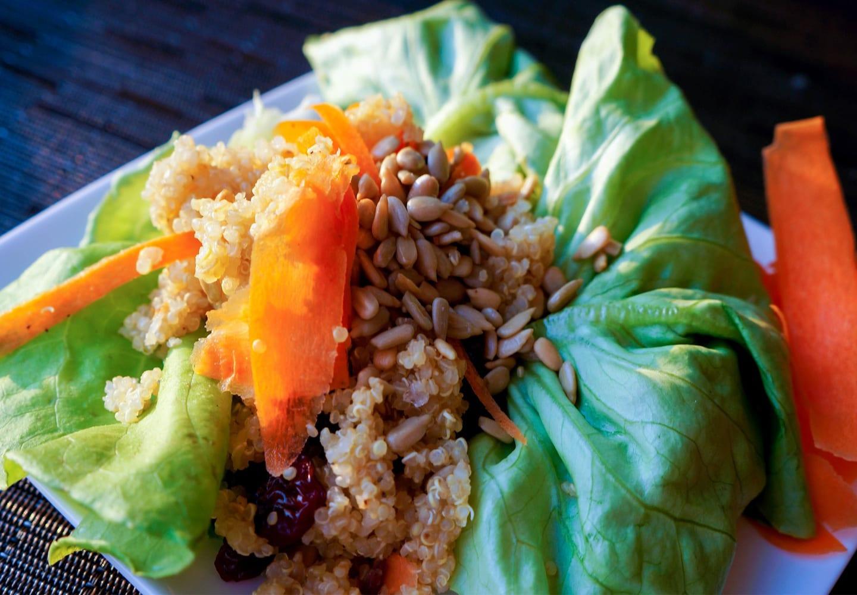 Cranberry Quinoa Crunch Lettuce Wraps