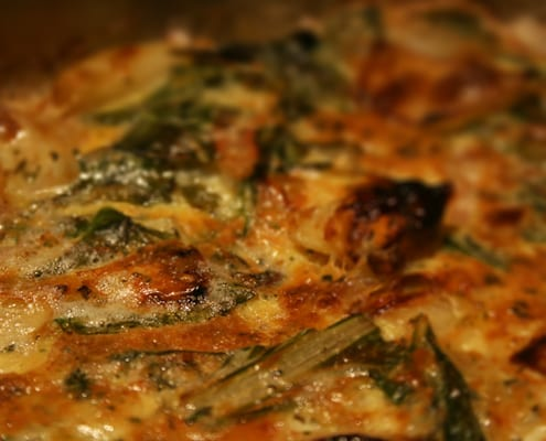 Simple Swiss Chard Frittata