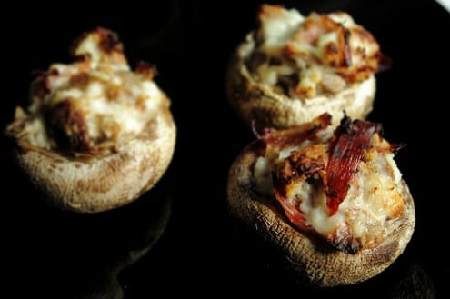 Ham and Fig Stuffed Mushrooms