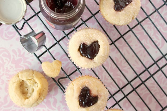 Valentine's Day Jelly Donut Muffins