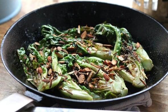Buttered Lettuce Toasted Almonds Recipe