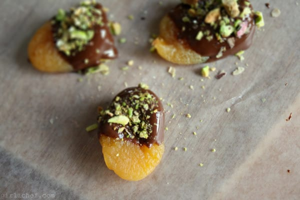 Dark Chocolate-Dipped Apricots