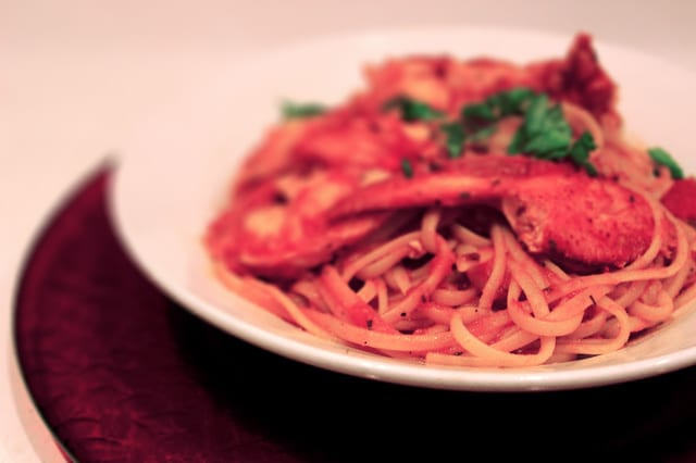 Pasta with Lobster Fra Diavolo