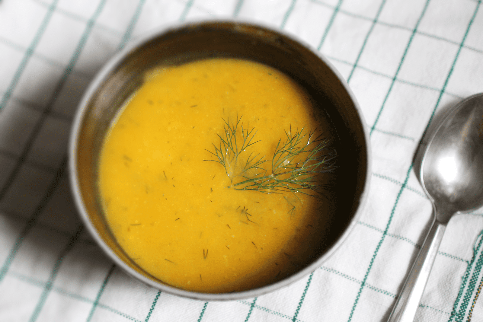 Spicy Butternut Squash and Dill Soup