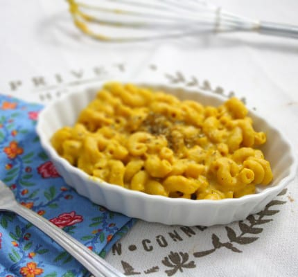 Low Fat Vegan Pumpkin Mac and Cheese
