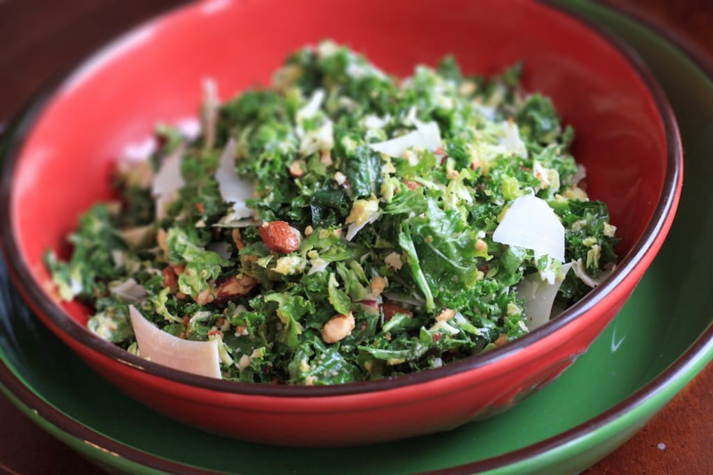 Healthy Kale and Brussels Sprout Salad