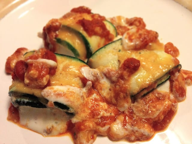 Oven Baked Stuffed Zucchini
