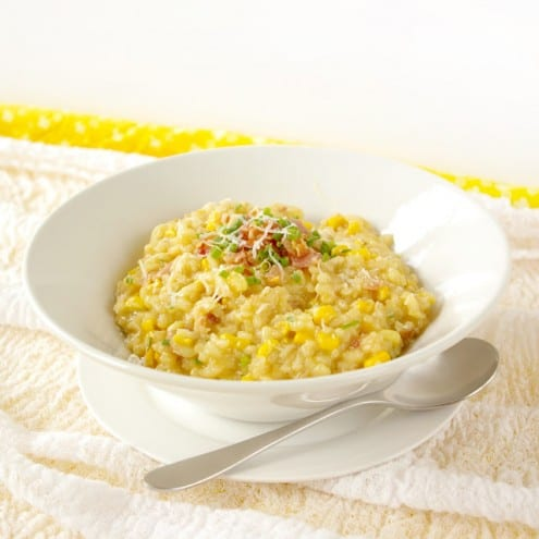 Sweet Corn Risotto with Pancetta