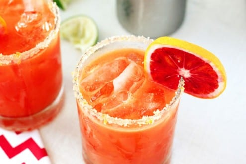 Winter Margarita Recipe Blood Orange and Ginger