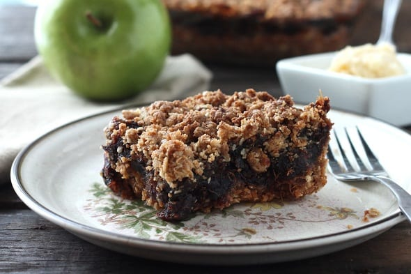 Crunchy Ginger Date Square with Apple Butter
