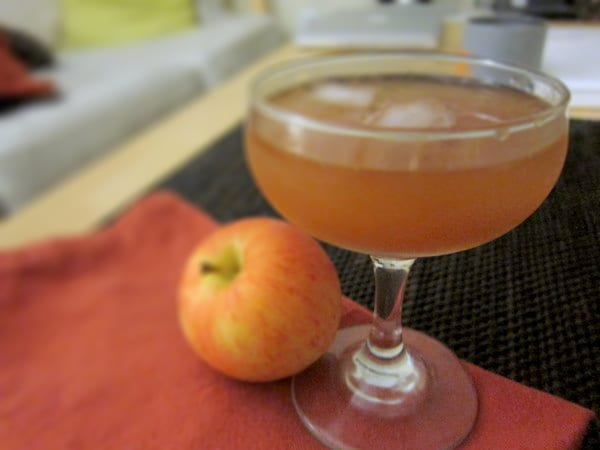 Ginger and Apple Bourbon Cocktail