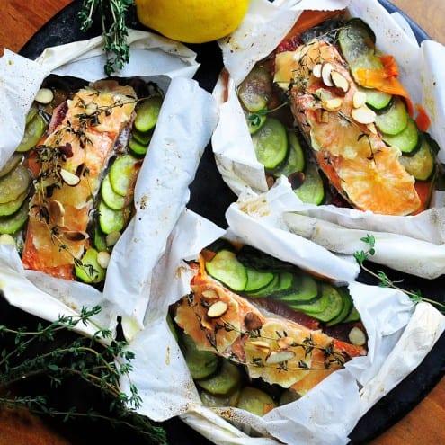 Poached Salmon Pouches
