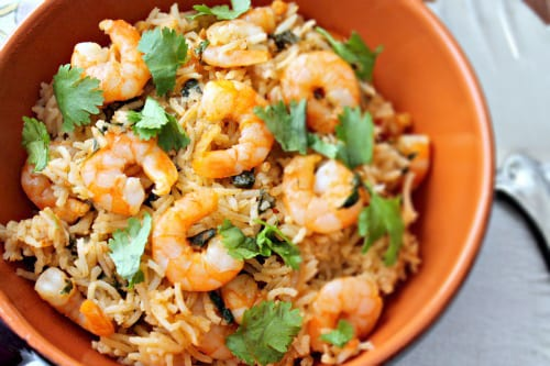 Indian Shrimp Pulao